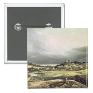 View of Dunloe Castle, Killarney, 1805 15 Cm Square Badge