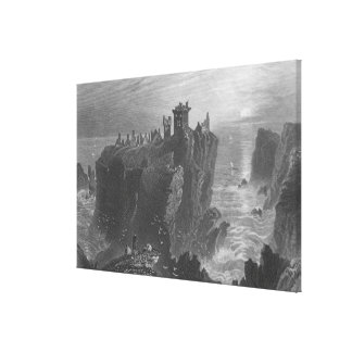 View of Dunottar Castle, near Stonehaven Canvas Print