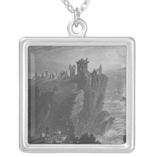 View of Dunottar Castle, near Stonehaven Silver Plated Necklace