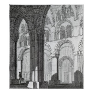 View of Durham Cathedral Nave Poster