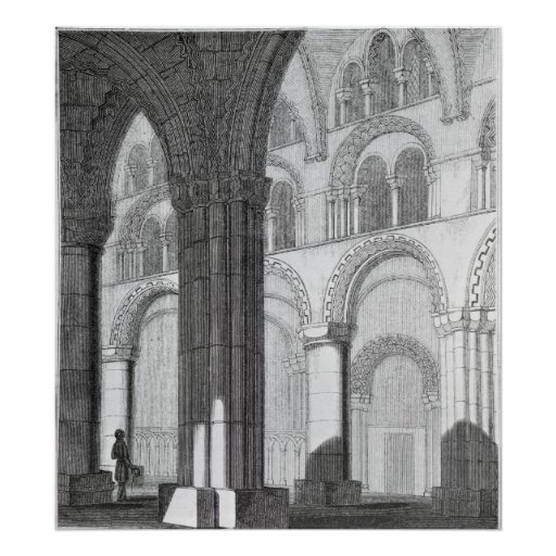 View of Durham Cathedral Nave Print