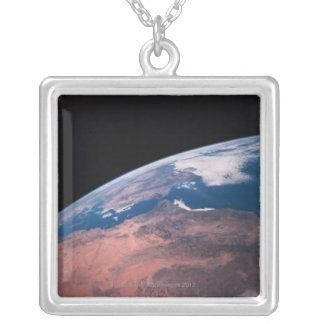 View of Earth from Space Silver Plated Necklace