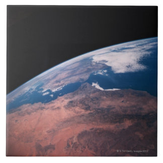 View of Earth from Space Tile