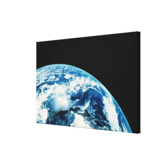 View of Earth in Space Stretched Canvas Print