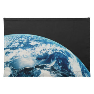 View of Earth in Space Place Mats