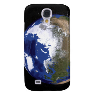 View of Earth showing the Arctic region Galaxy S4 Case