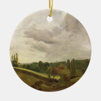 View of East Bergholt, c.1813 (oil on canvas) Christmas Ornament