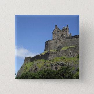 View of Edinburgh Castle, Edinburgh, Scotland, 2 15 Cm Square Badge