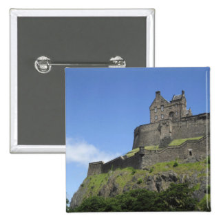 View of Edinburgh Castle, Edinburgh, Scotland, 2 15 Cm Square Badge