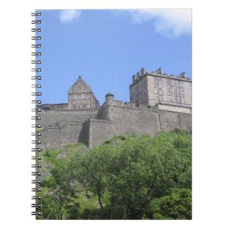 View of Edinburgh Castle, Edinburgh, Scotland, 3 Spiral Notebook