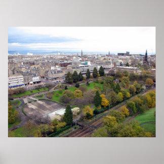 View of Edinburgh Scotland Poster