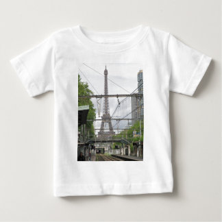 View of Eiffel Tower from Train Station, Paris T Shirt