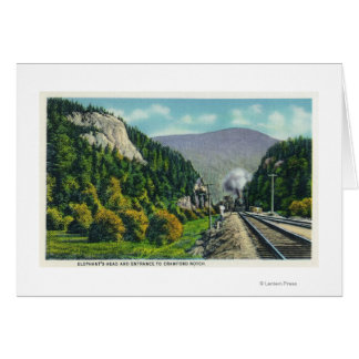 View of Elephant's Head & Crawford Notch Entranc Greeting Card