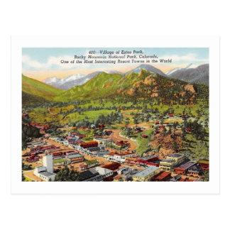 View of Estes Park Colorado Vintage Postcard
