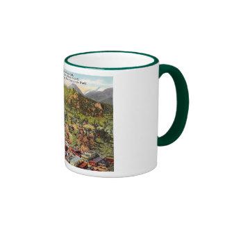 View of Estes Park Colorado Vintage Ringer Mug