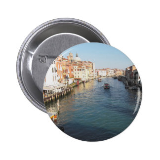 View of famous Grand Canal in Venice, Italy 6 Cm Round Badge
