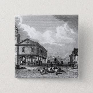 View of Faversham, Kent, 1832 15 Cm Square Badge
