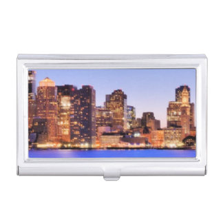 View of Financial District of downtown Boston Business Card Holder