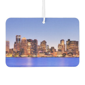 View of Financial District of downtown Boston Car Air Freshener
