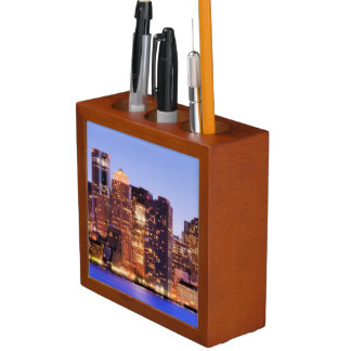 View of Financial District of downtown Boston Desk Organiser