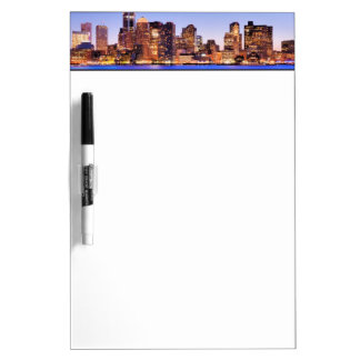 View of Financial District of downtown Boston Dry Erase Board