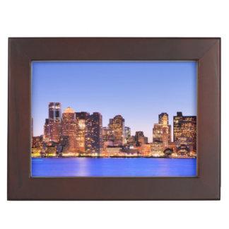 View of Financial District of downtown Boston Keepsake Box