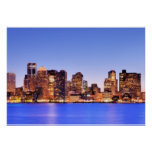 View of Financial District of downtown Boston Poster