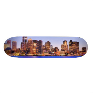 View of Financial District of downtown Boston Skateboard