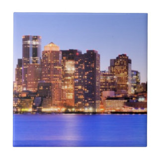 View of Financial District of downtown Boston Tile