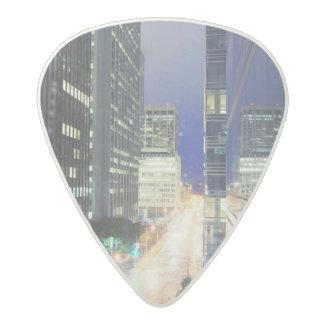 View of financial district office buildings acetal guitar pick