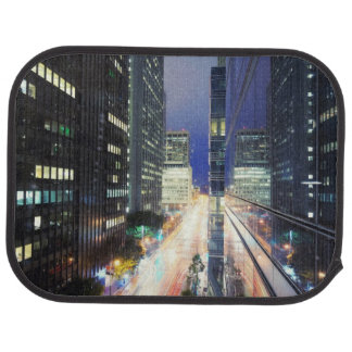 View of financial district office buildings car mat