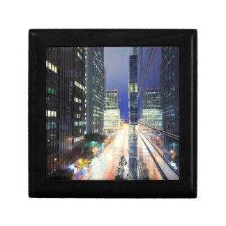 View of financial district office buildings gift box
