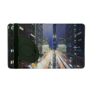 View of financial district office buildings iPad folio case