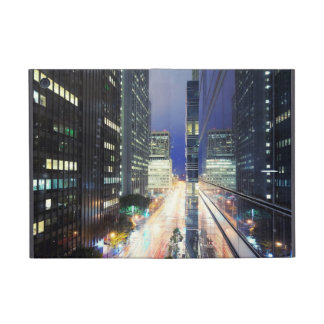 View of financial district office buildings iPad mini case