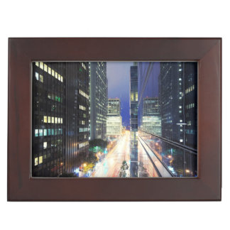 View of financial district office buildings keepsake box