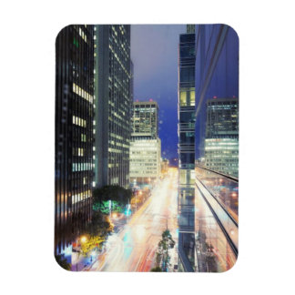 View of financial district office buildings rectangular photo magnet
