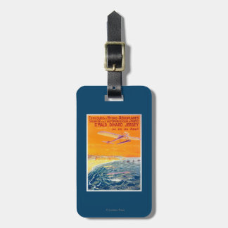 View of Float Planes in Air and Water Poster Luggage Tag