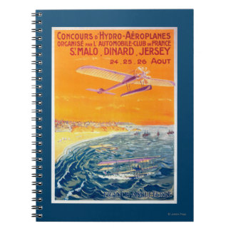View of Float Planes in Air and Water Poster Notebook