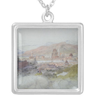 View of Florence, 1837-39 Silver Plated Necklace