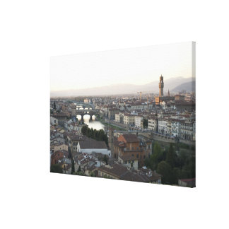 view of Florence from overlook of city showing Canvas Print