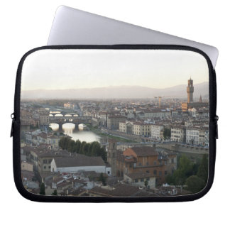 view of Florence from overlook of city showing Laptop Sleeve