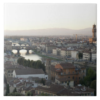 view of Florence from overlook of city showing Large Square Tile