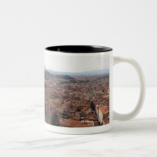 View of Florence from the top of the Duomo Santa Two-Tone Coffee Mug