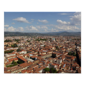View of Florence, Italy from the top of the 2 Poster