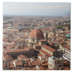 View of Florence, Italy from the top of the Large Square Tile