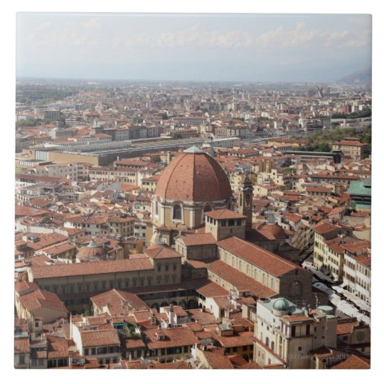 View of Florence, Italy from the top of the Tile