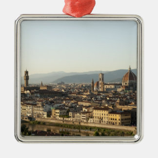 view of florence with Arno River, Duomo, Ponte Christmas Ornament