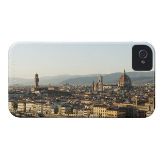 view of florence with Arno River, Duomo, Ponte iPhone 4 Cases