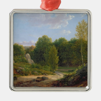 View of Fontainebleau Forest, 1829 Christmas Ornament