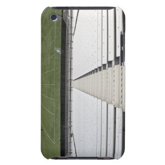 View of football field from empty bleachers barely there iPod cover